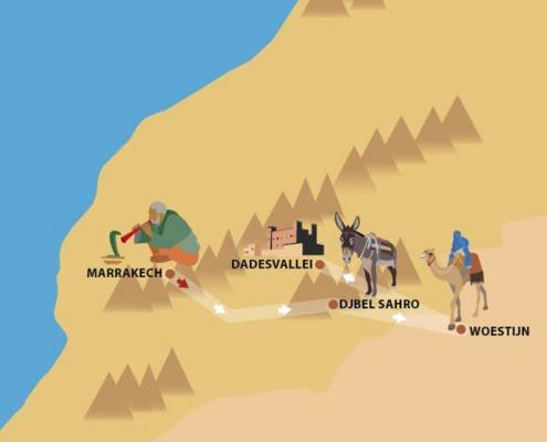 Wandelvakantie december-Djbel Sahro en Woestijn