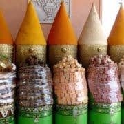 Marokkaanse kruiden in kegels