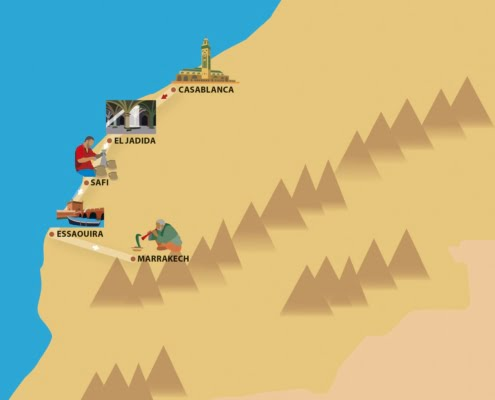Piratenroute- Familiereis Marokko in de zomer
