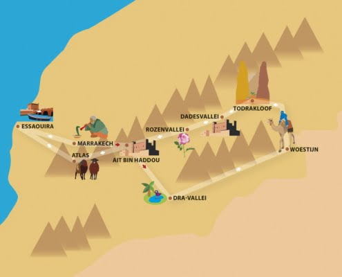 Rozenreis Marokko- groepsreis meivakantie