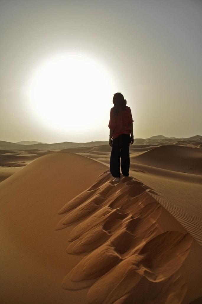Luxe woestijnreis Marokko- zonsondergang