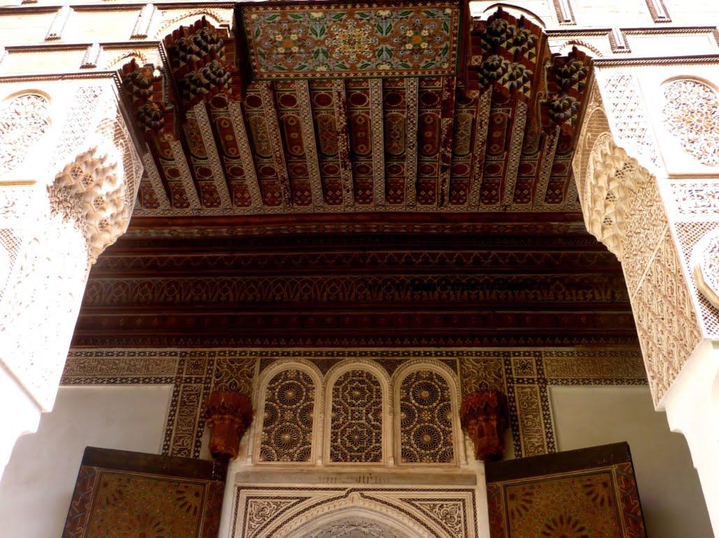Cederhouten plafonds-rondreis Marokko