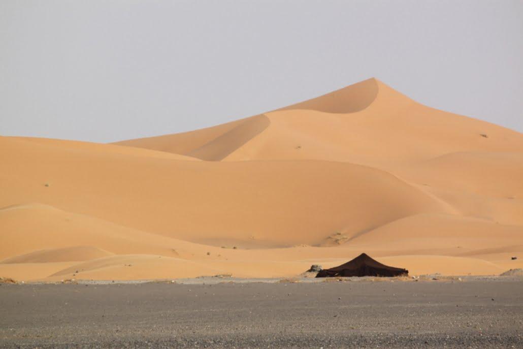 Slapen in een Berbertent Sahara