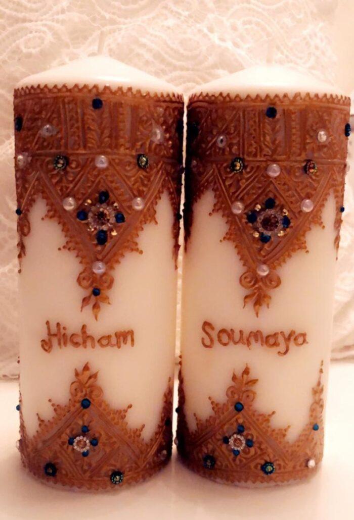 Henna kaarsen met naam