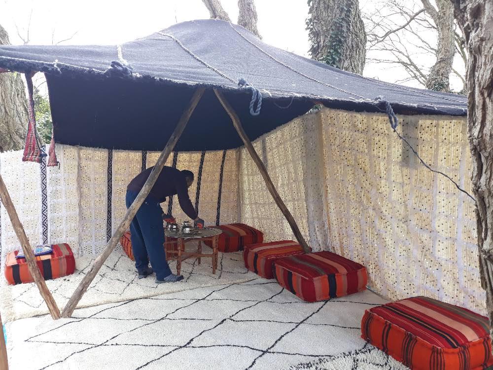 Nomaden tent decoratie