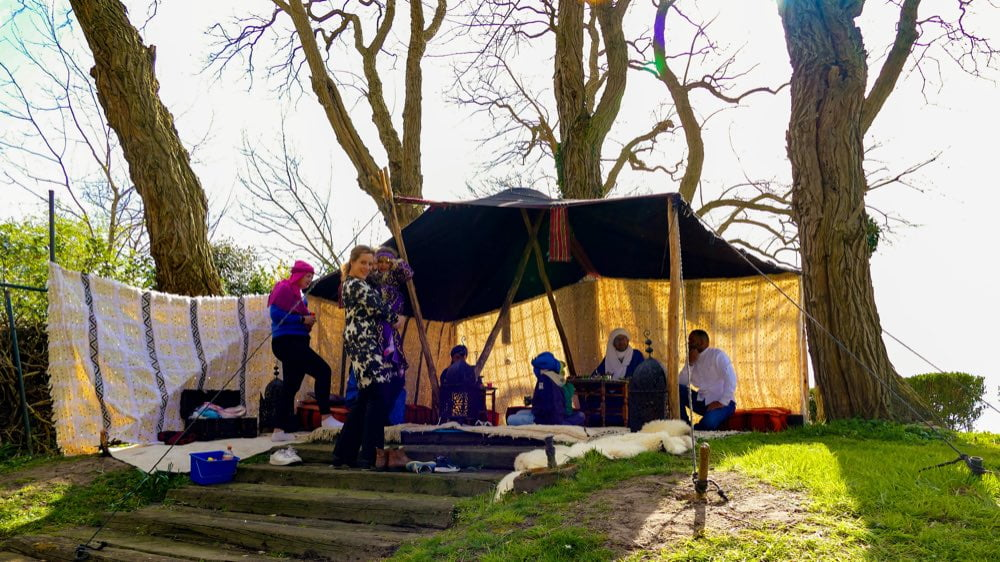 nomaden tent event