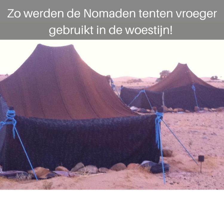 nomaden tent in de woestijn