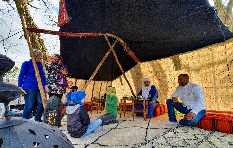 nomaden tent voor feestje