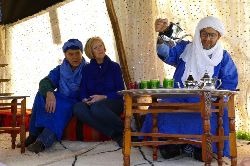 theeceremonie nomaden tent